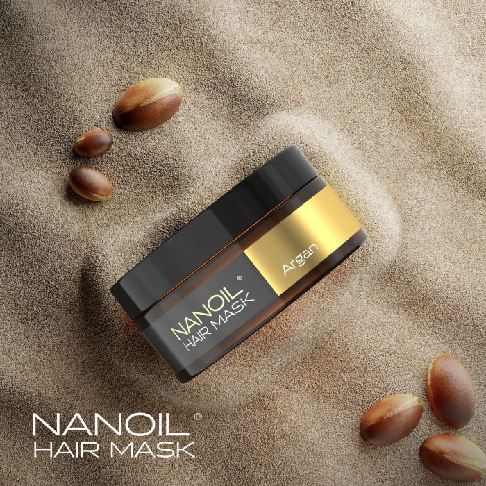 Nanoil hair mask infused with genuine argan oil